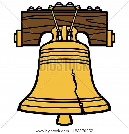 A vector illustration of a Liberty Bell.