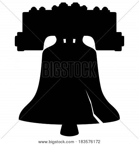 A vector illustration of a Liberty Bell Silhouette.