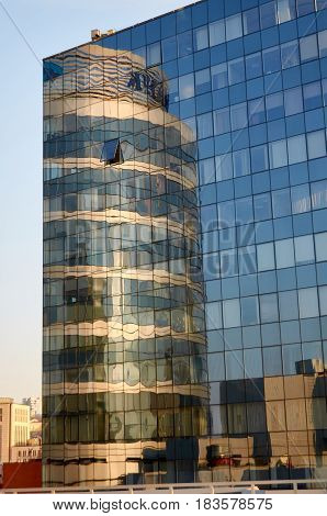 Glass, Sky, Cloud and Reflection in Dnipro