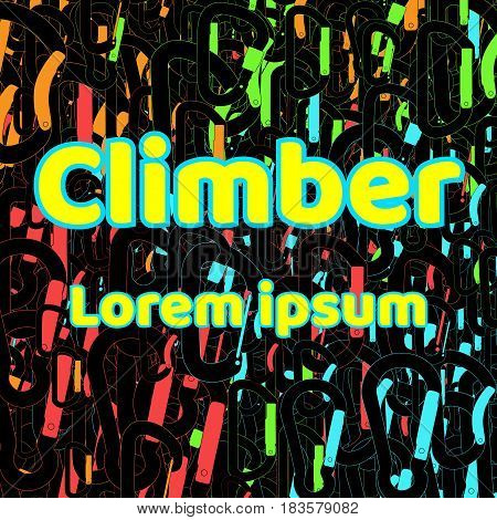 Logo for shirts. Climber abstract bright background.