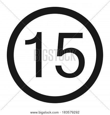Maximum speed limit 15 line icon Traffic and road sign vector graphics a solid pattern on a white background eps 10.