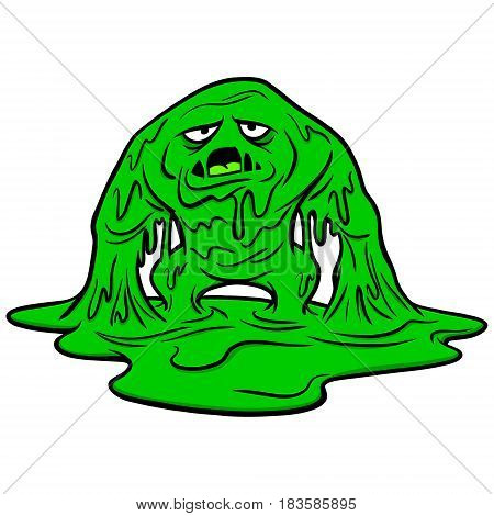 A vector illustration of a slime monster.
