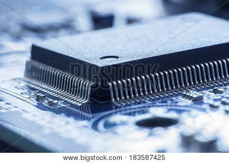 Computer Chip, On The Motherboard, Technology Concept, Background