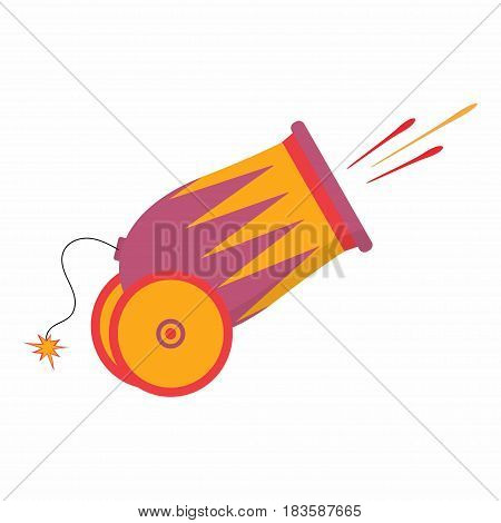 cannon isolated on white background, cannon icon in cartoon style