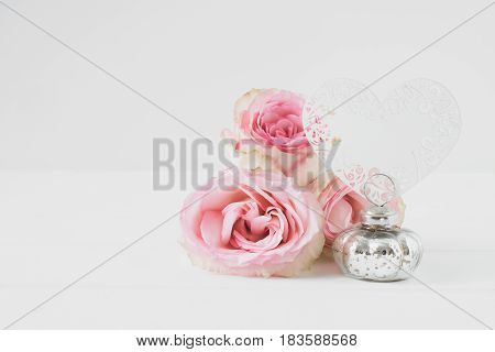 Floral Styled Mockup Stock Photograph