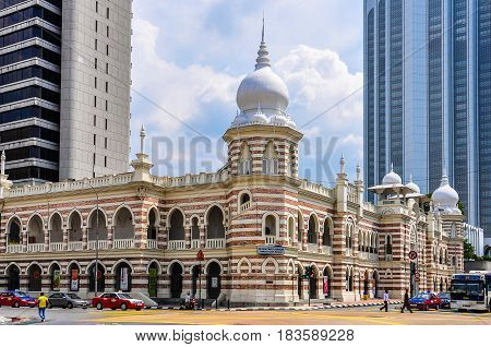 KUALA LUMPUR, MALAYSIA - OCTOBER 26, 2012: Textile museum in the cosmopolitan city of Kuala Lumpur Malaysia