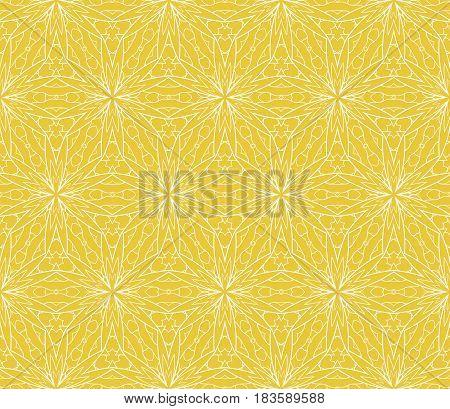 Seamless Geometric Floral Pattern. Stylish Graphic Design. For Design, Wallpaper, Invitation.