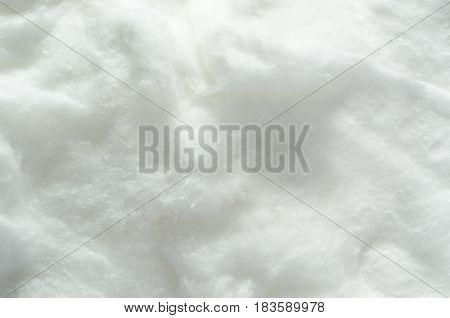 Soft white snowy cotton wool texture background.