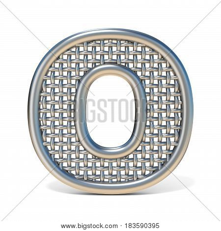 Outlined Metal Wire Mesh Font Letter O 3D