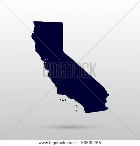 Map of the U.S. state of California