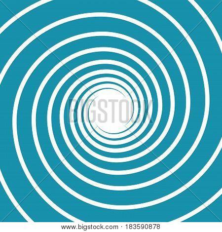 white on blue spiral swirl hypnotic vector illustration