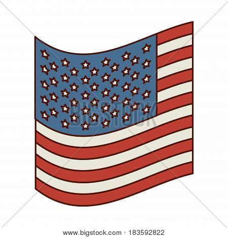 light colours silhouette of small flag of the united states vector illustration