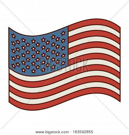 light colours silhouette of waving flag of the united states vector illustration