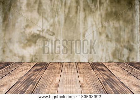 Old wooden table top blurred background,Space for product