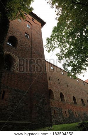 Poland old castle Nidzica old teutonic outdoor