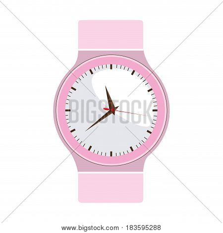 colorful graphic of female analog wristwatch vector illustration