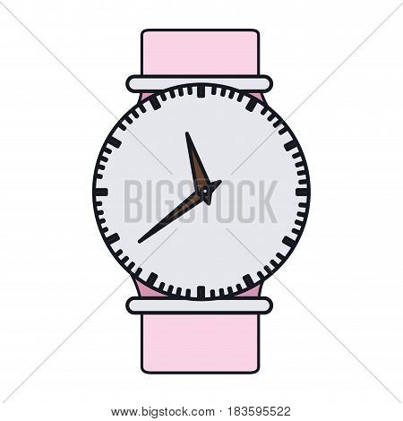 color graphic of female wristwatch vector illustration
