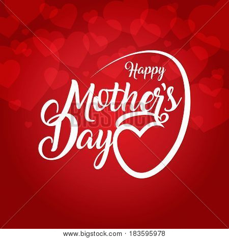 happy mother's day card background vector illustration
