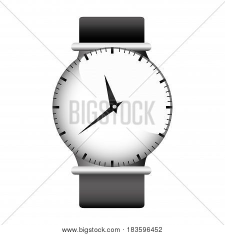 realistic graphic with gray female wristwatch vector illustration