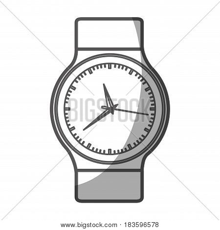 grayscale silhouette of male wristwatch vector illustration