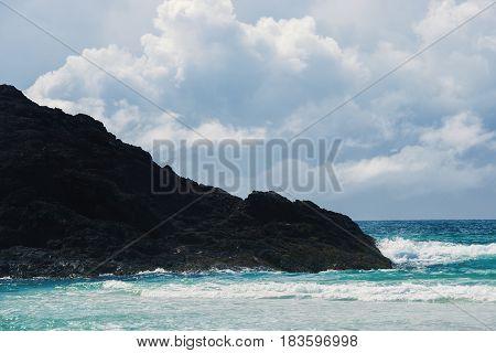 Pristine Beach On Moreton Island.