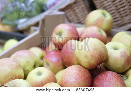 Apples close up