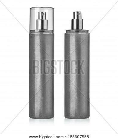 Blank spray can template with transparent cap for paint hairspray deodorant