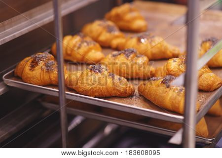 Croissant On The Baking Sheet
