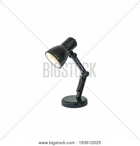 Closeup small lamp isolated on white background with clipping path