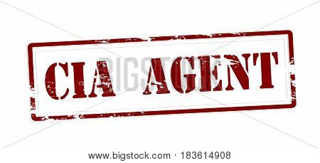 Stamp with text CIA agent inside vector illustration