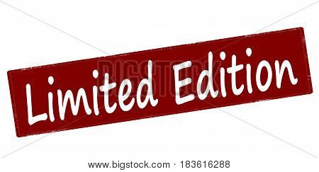 Stamp with text limited edition inside vector illustration