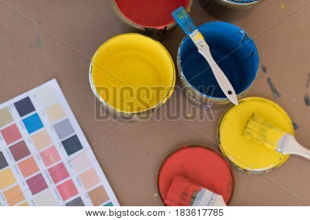 prepared color for painting the wall