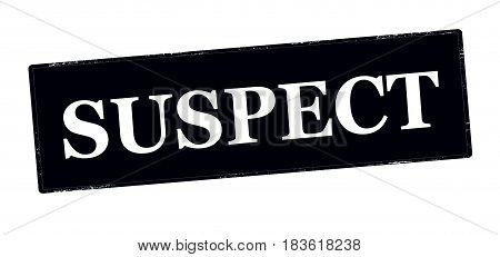 Stamp with word suspect inside vector illustration
