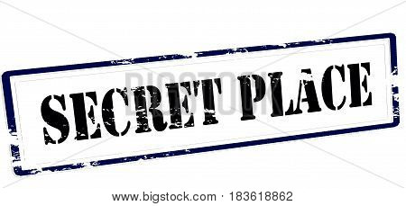 Stamp with text secret place inside vector illustration