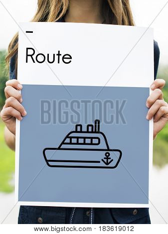 Route Holiday Discover Journey Boat Sign