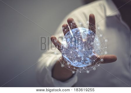 Technologies connecting the world   this image furnished by nasa