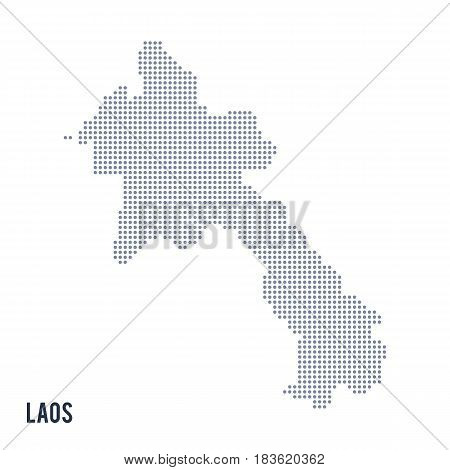 Vector Dotted Map Of Laos Isolated On White Background .