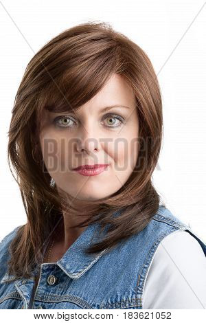 Beautiful Middle Age Woman Cancer Patient With Wig
