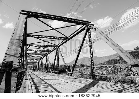 The Memorial Bridge was made of iron and was built in 1942 by the Japanese to transport weapons and provisions to Myanmar during World War II.
