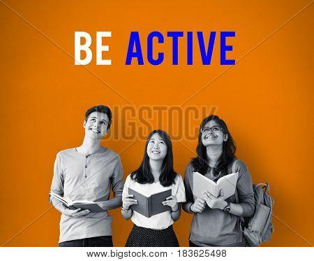 Be active physical activity word