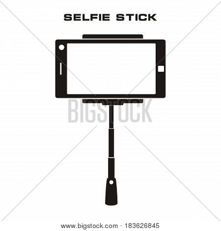 Selfie stick icon vector illustration. Isolated badge for website or app - stock infographics. vector.