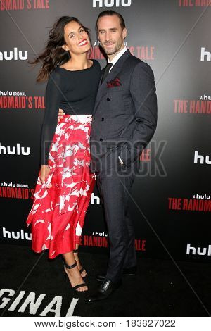 LOS ANGELES - APR 25:  Maria Dolores Dieguez, Joseph Fiennes at the Premiere Of Hulu's