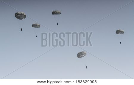 Parachutes In The Air Show