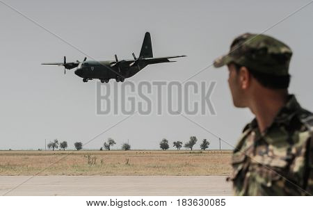 Lockheed C-130B Hercules (l-282) Airplane