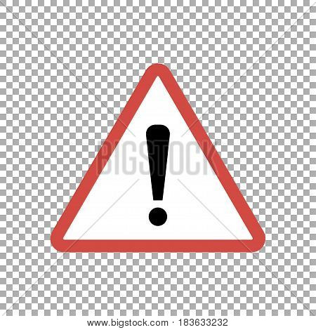 Warning sign, vector. Attention sign with exclamation mark symbol