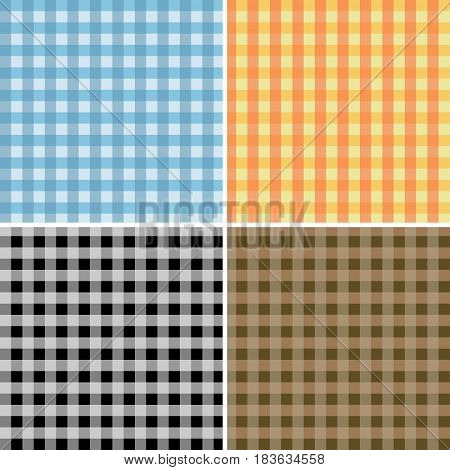 Seamless pattern tablecloths stylish. Traditional checkered tablecloth pattern