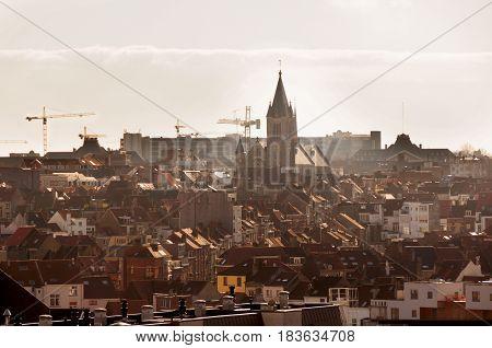 Skyline of the city Brussels, Belgium. EU