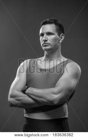 Man Upper Body, Portrait Muscular Strong