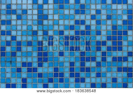 Photo of blue mosaic tiles, texture, pattern