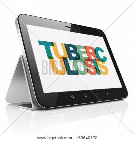 Medicine concept: Tablet Computer with Painted multicolor text Tuberculosis on display, 3D rendering